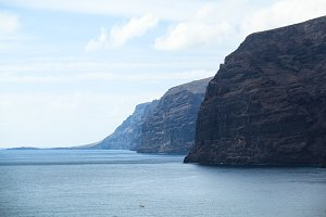 Arial view of Los Gigantes Cliffs, Tenerife, Spain