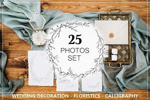 25 PHOTOS SET OF WEDDING DECORATION
