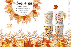Autumn Kit: patterns, frames, cards