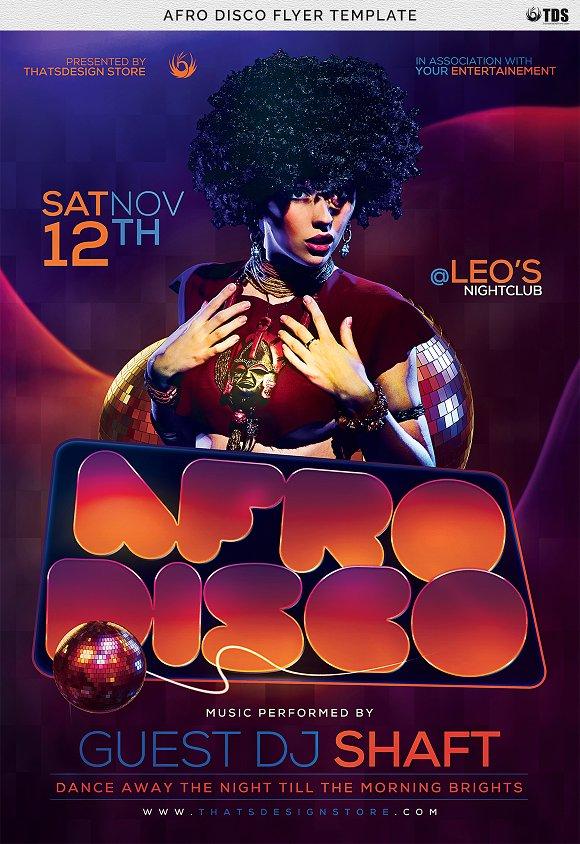 Afro Disco Flyer Template ~ Flyer Templates ~ Creative Market