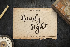 Handy Sight - font