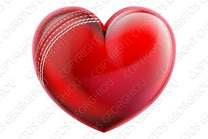 Heart Shape Cricket Ball