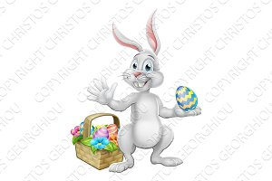 Easter Egg Hunt Bunny Rabbit Cartoon