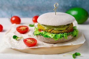 Healthy vegan burger