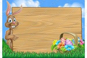 Easter Bunny Egg Hunt Background