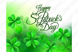 Shamrock Clover Happy St Patricks Day Background