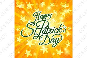 Happy St Patricks Day Star Sign Background