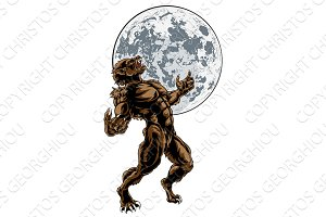 Wolf Man Werewolf Scary Horror Monster