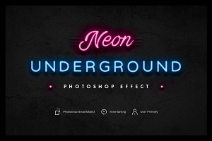 Neon Underground Photoshop Effect