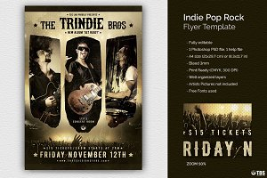 Indie Pop Rock Flyer Template