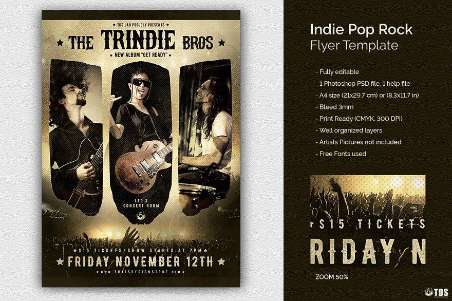 Indie Rock Flyer Psd Flyer Templates Creative Market Pro
