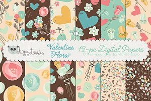 Valentine Flora 03 Patterns