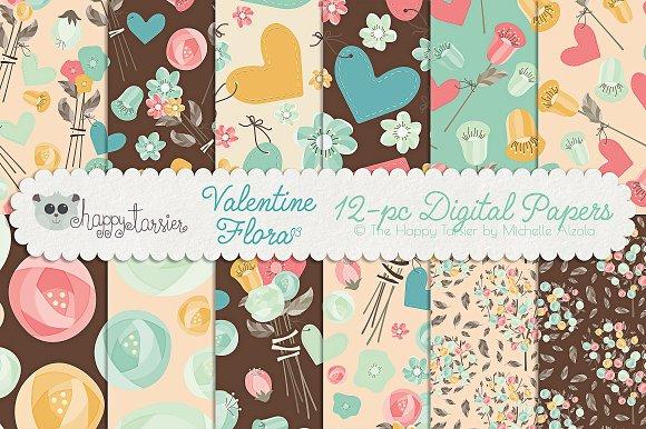 Valentine Flora 03 Patterns