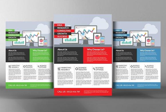 10 flat design corporate flyers flyer templates creative market