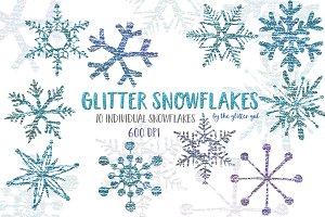 Glitter Snowflake Clip Art