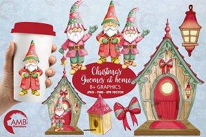 Gnome watercolor clipart AMB-1543