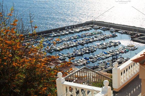 Los Gigantes Sea Port Tenerife Canary Islands Spain