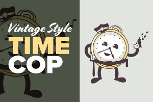 Vintage Animation Style Time Cop
