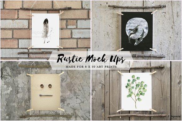 Download 8x10 Artworks Rustic Mock Ups