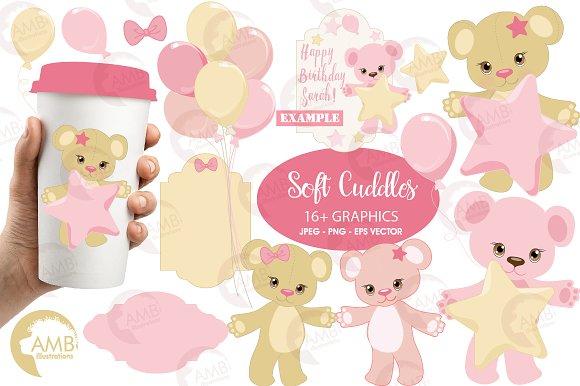 Baby Bear In Pink Nursery AMB-1450