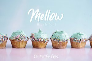Mellow. Brush Font. Two Styles