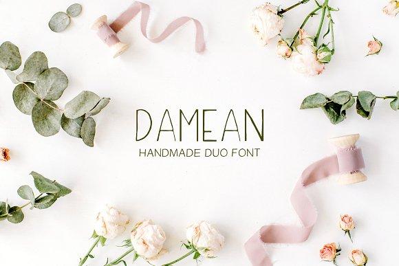 Damean Handmade Duo Font