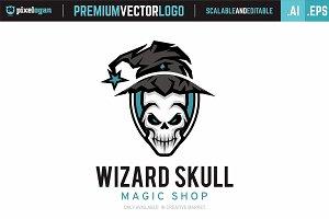 Wizard Skull Logo
