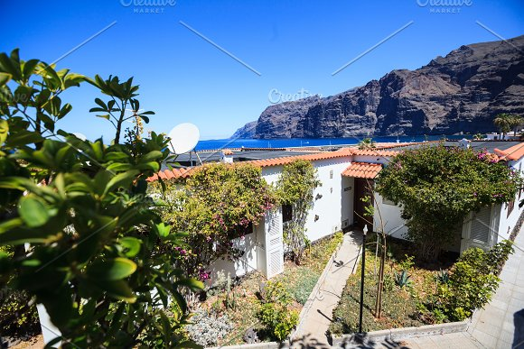 Residential Apartments With Sea Port Of Los Gigantes In The Background