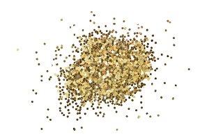 Gold glitter dot background.