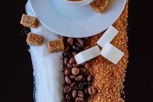 Carpet of coffee and sugar II