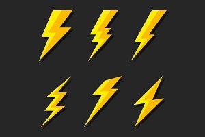 Thunder and Bolt Lighting Flash Icon