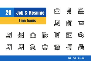 Job & Resume Icons