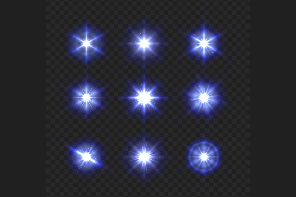 Light Sparkling and Shining Stars
