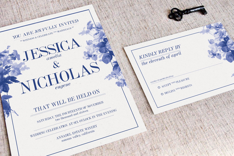 China Blue Wedding Suite ~ Invitation Templates ~ Creative Market