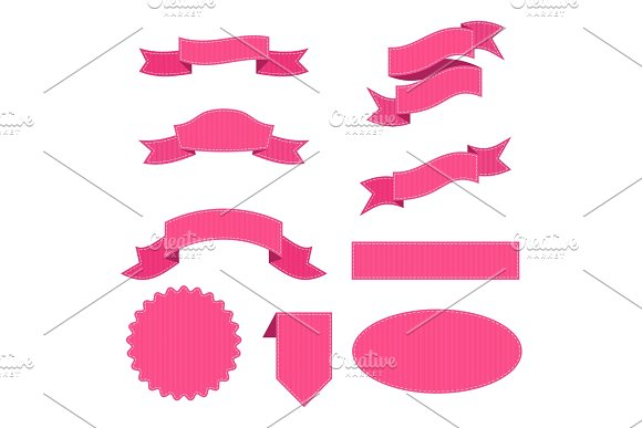 Set Of Ribbon Pink