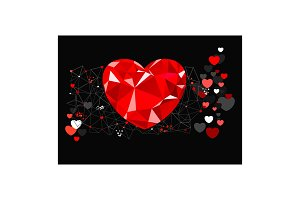 abstract greeting card for valentine day
