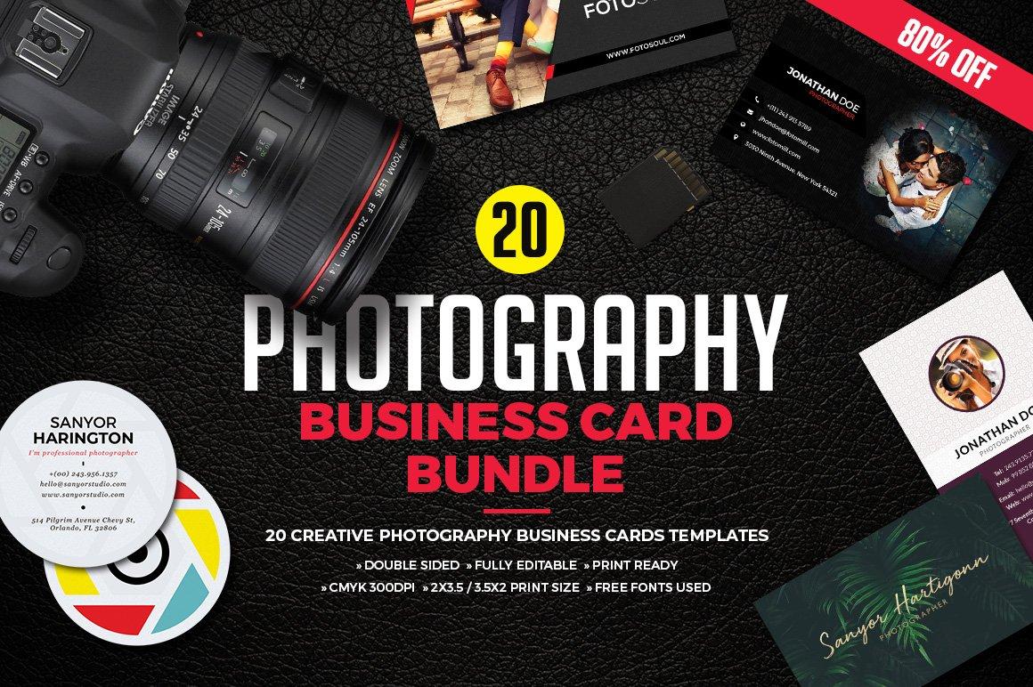 Photography Business Card Bundle ~ Business Card Templates ...
