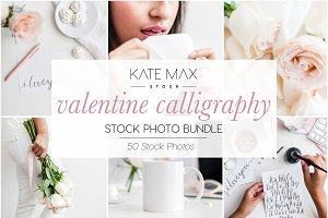 Valentine Calligraphy Photo Bundle