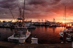 Sunset in the Marina