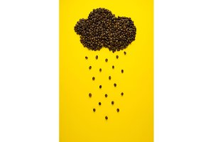 Raining coffee.