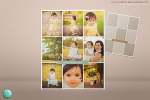 Modern blog board collage template