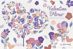 Valentine Flora 04 Clipart & Vectors