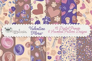 Valentine Flora 04 Patterns