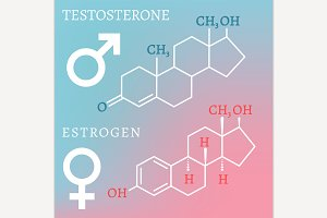 Testosterone and Estrogen