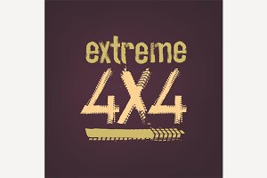Extreme 4x4 Lettering