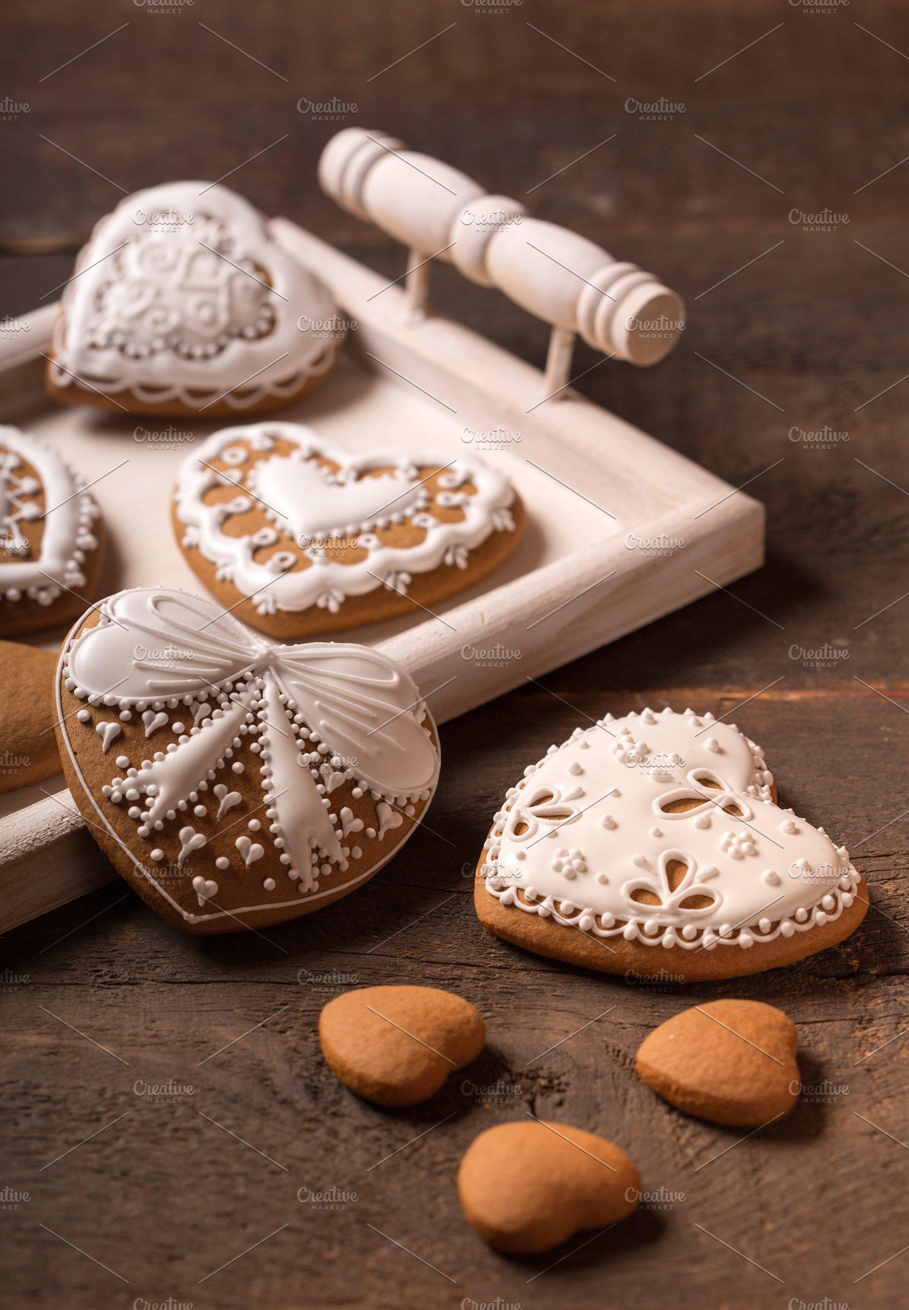 Beautiful Gingerbread Heart Cookies