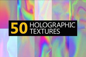 50 Holographic textures