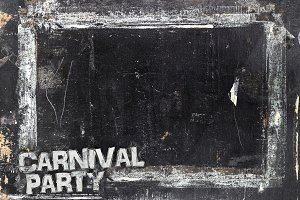 Carnival Party chalkboard background