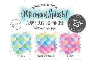 Mermaid Splash Photoshop Kit