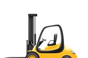 Yellow small lift truck